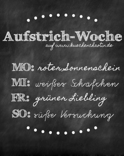 Aufstrich-Woche auf www.kuechenchaotin.de