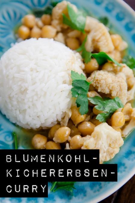 Blumenkohl-Kichererbsen-Curry - www.kuechenchaotin.de