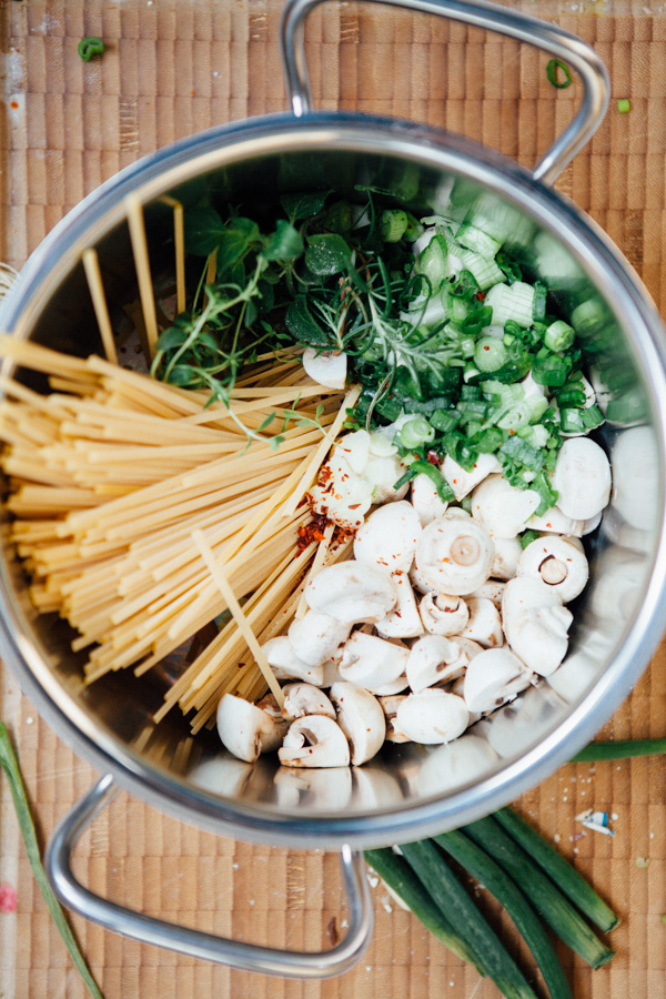 Champignon One Pot Pasta - www.kuechenchaotin.de