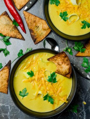 Cheddar Lauch Suppe - https://kuechenchaotin.de