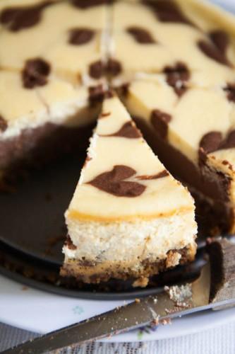 Chocolate Swirl Cheesecake-4