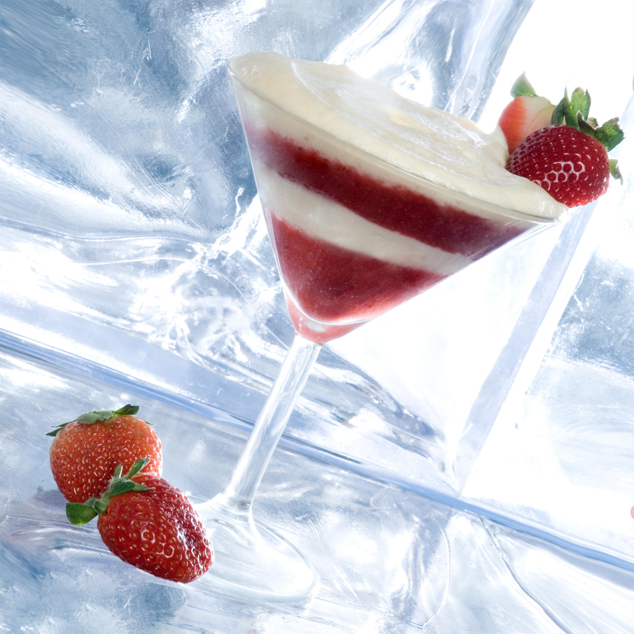 Ein Dessert mit Erdbeeren und Mascarpone