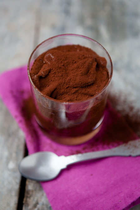 Eine Portion Mousse au Chocolat