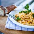 Pasta mit Möhrencreme