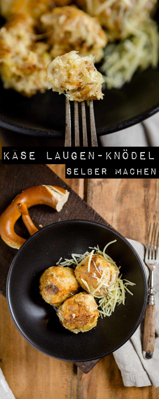 Käse Laugen-Knödel - https://kuechenchaotin.de