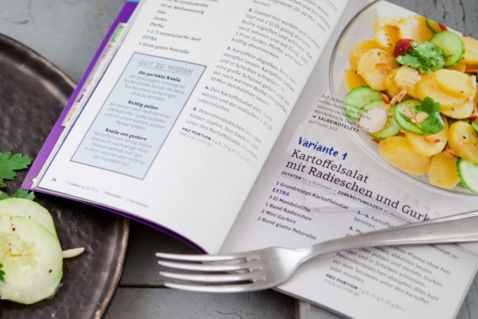 Kartoffelsalat mit Gurken und Radieschen-4