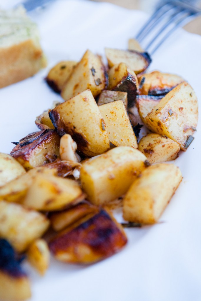 Knusprige Kartoffeln vom Grill - www.kuechenchaotin.de