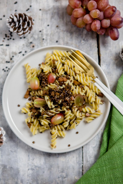 Pasta mit Balsamico-Linsen - www.kuechenchaotin.de