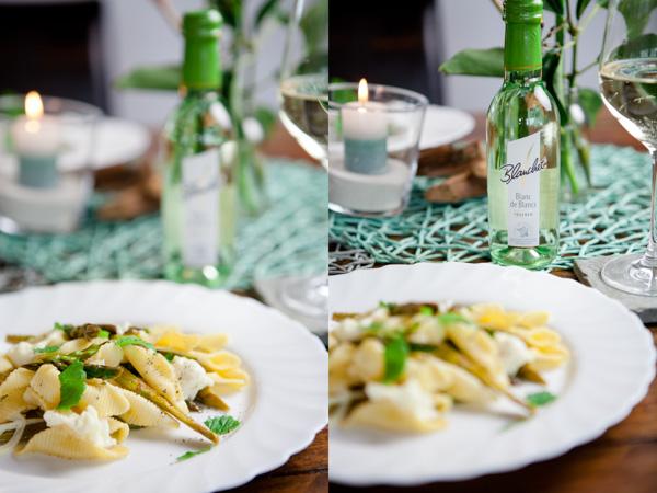 Pasta mit Spargel, Zitrone und Minze - www.kuechenchaotin.de