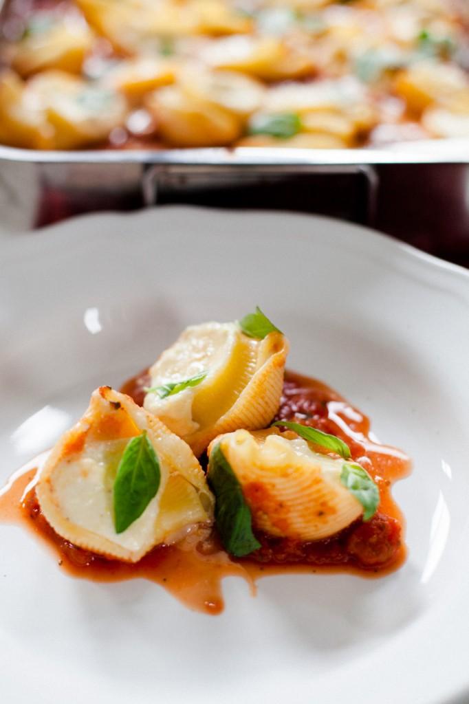 Pasta mit Zitronenricotta und Tomatensauce-2