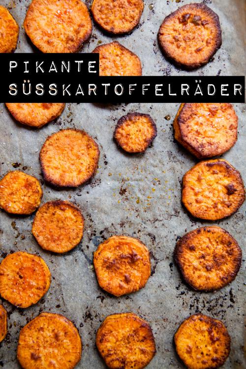 Pikante Suesskartoffelraeder aus dem Ofen