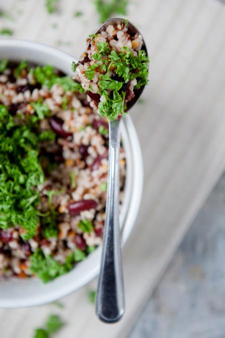 Wie deckt eigentlich ein Vegetarier seinen Proteinbedarf? - und ein Power-Protein-Salat - www.kuechenchaotin.de