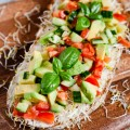 Power-Stulle mit Avocado, Tomaten, Gurke und Sprossen - www.kuechenchaotin.de