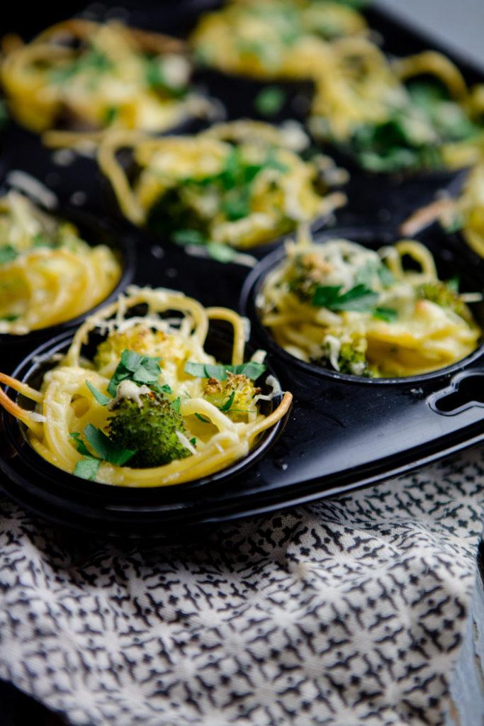 Spaghettinester mit Gemüse - www.kuechenchaotin.de