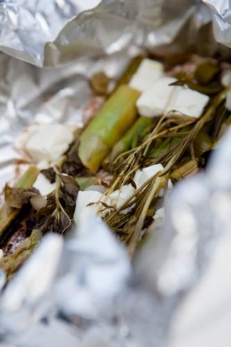 Spargel-Feta-Päckchen vom Grill - http://kuechenchaotin.de