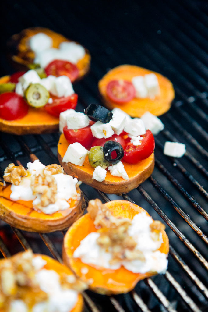 Süßkartoffelpizzen vom Grill - www.kuechenchaotin.de