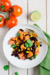 Blitzschneller Tex Mex Süßkartoffel-Salat -  Salat ohne Salat