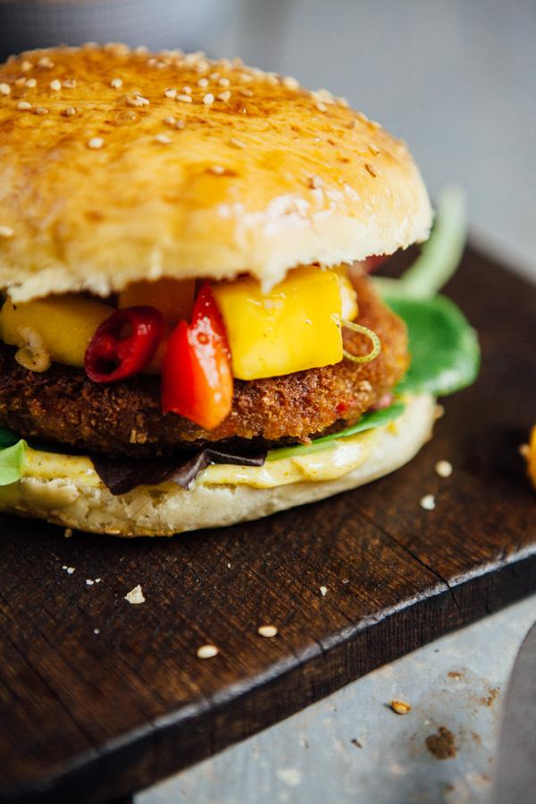 Thai-Burger mit Mango-Chutney-2