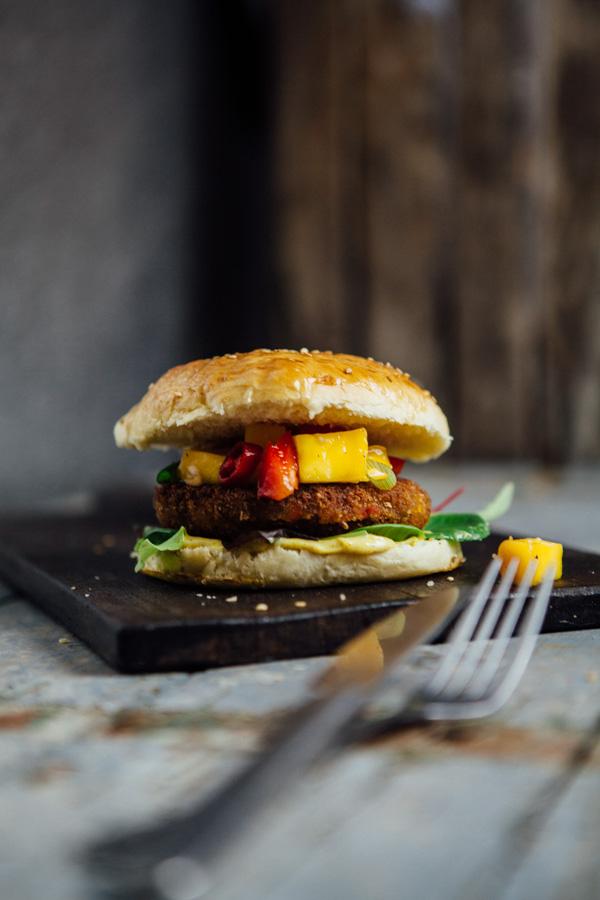 Thai-Burger mit Mango-Chutney-5
