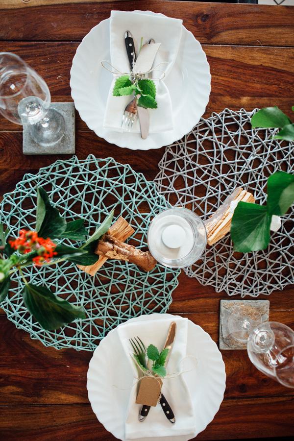 Tischdeko Spargel-Menue