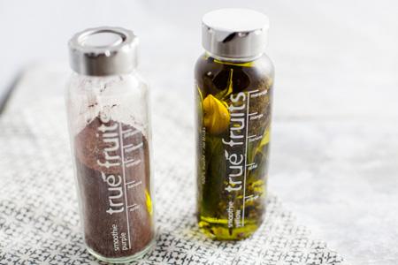 Wintergemüse mit Kräuteröl und Schokosalz