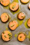 Zerdrückte Süßkartoffeln aus dem Ofen mit Butter und Knoblauch - Smashed Sweet Potatoes