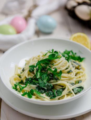 Zitronen Pasta mit Spinat One Pot Style - http://kuechenchaotin.de