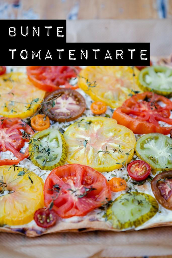 bunte Tomatentarte