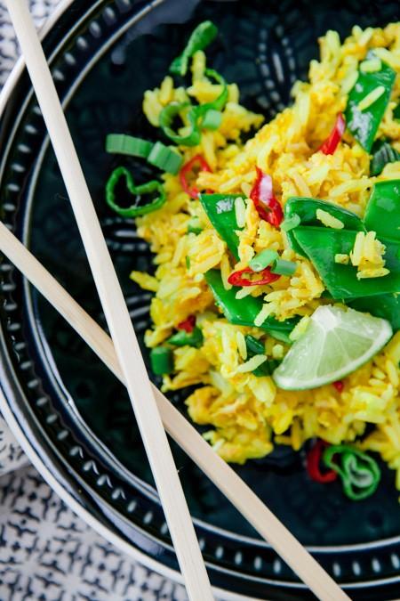Gebratener Reis mit Gemüse - www.kuechenchaotin.de