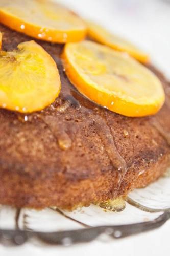 getraenkter Orangenkuchen