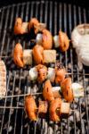 Supereinfaches Grillbrot und Aprikosen-Spieße mit Tofu und Halloumi - Nich' lang fackeln!