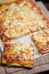 Schnelle Pizza mit Spargel und Tomaten - zum Ende der Saison