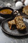 Maronenbraten mit Linsen und Pilzen - veganer Weihnachtsbraten