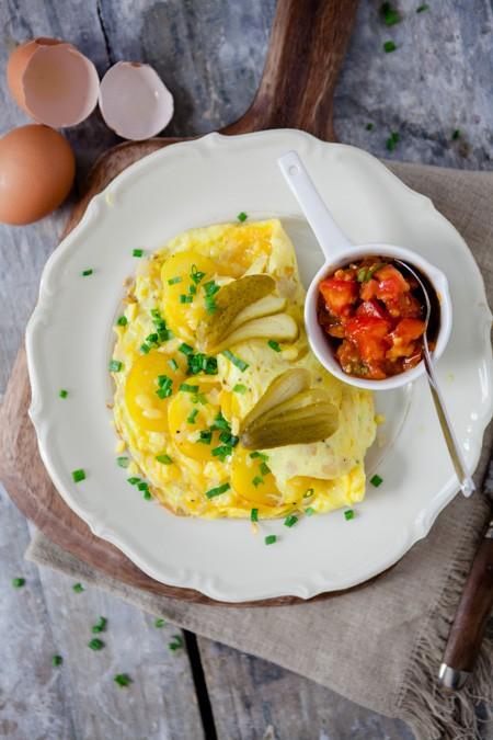Vegetarisches Bauernfrühstück - www.kuechenchaotin.de