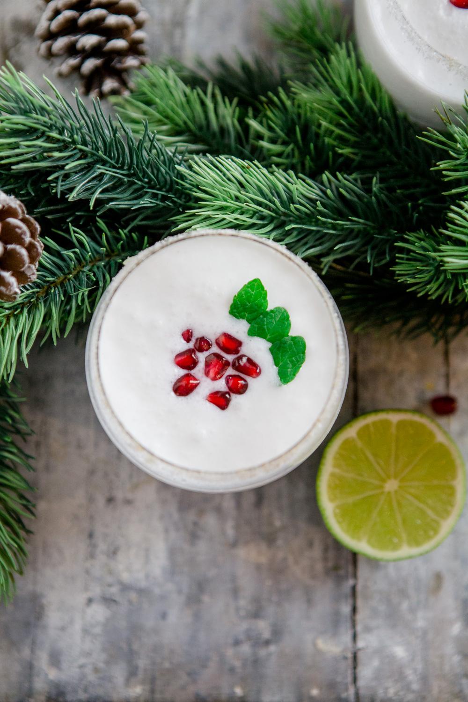 weisser Weihnachts-Cocktail - http://kuechenchaotin.de