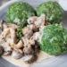 Schnelle Spinatknödel mit Pilzen in Rahmsauce - Kartoffelwoche